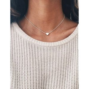 Dainty Mini Heart Silver Necklace Classic